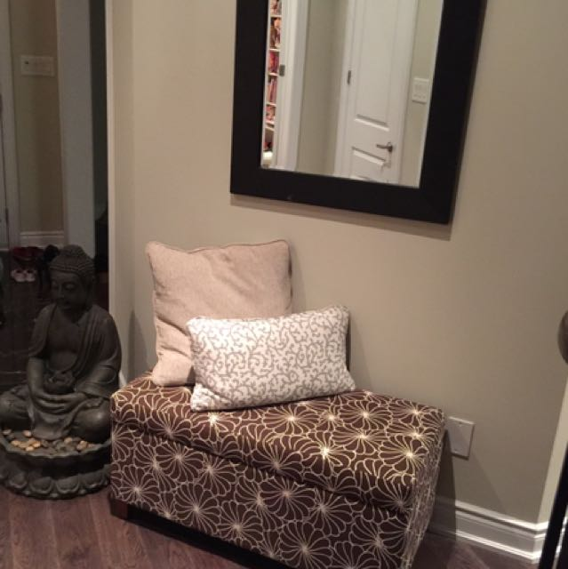 Large Mirror + bench Ottoman