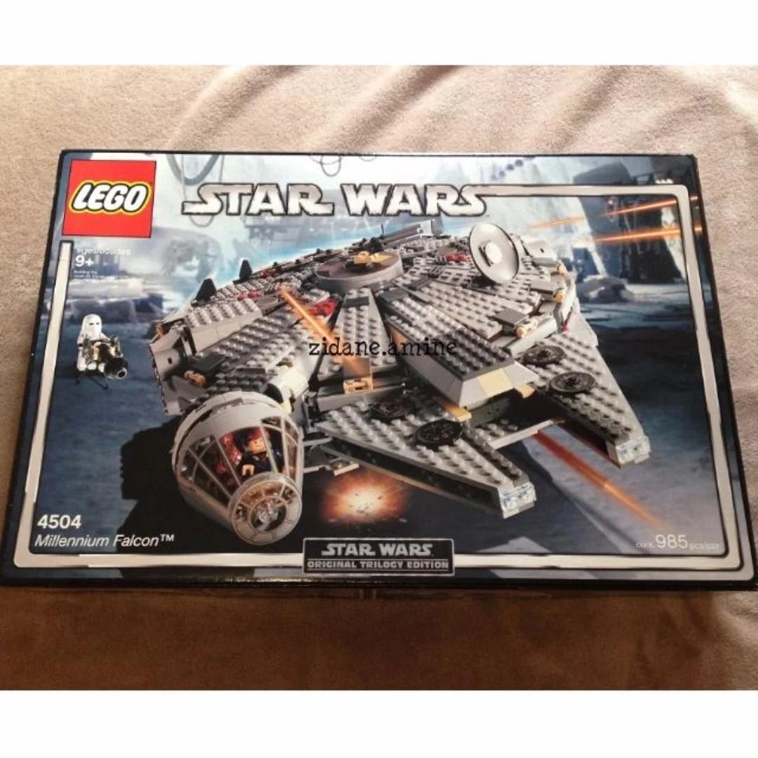 Lego Millennium Falcon 4504 han solo princess leia chewie chewbacca snowtrooper