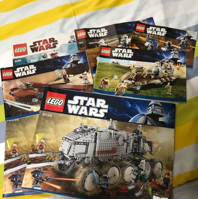 Lego Star Wars Instruction Sheets Toys Games Bricks Figurines