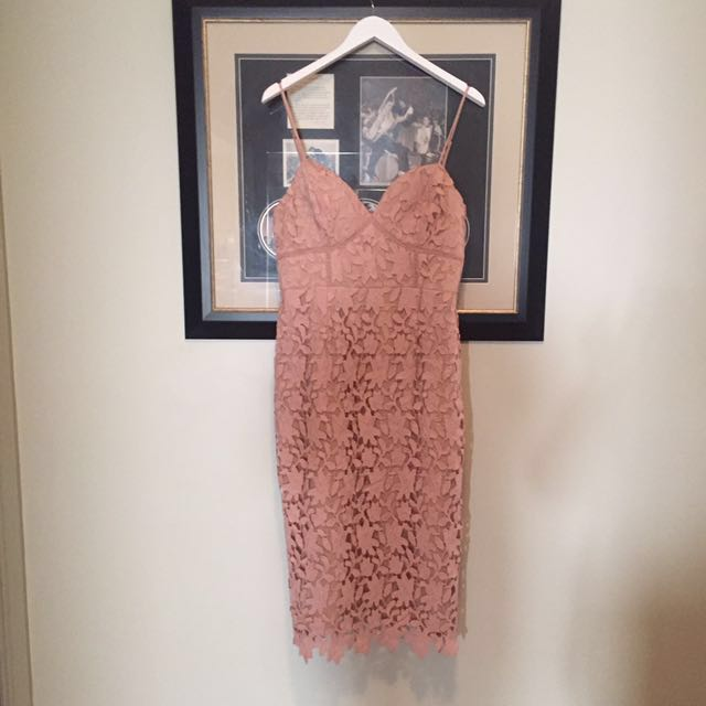 Love Honor Pink lace dress
