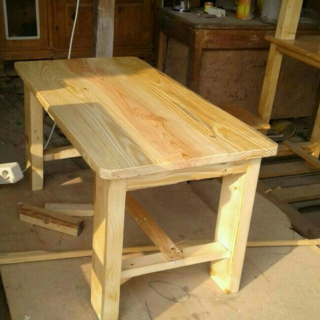 Meja kayu jati belanda Home Furniture on Carousell