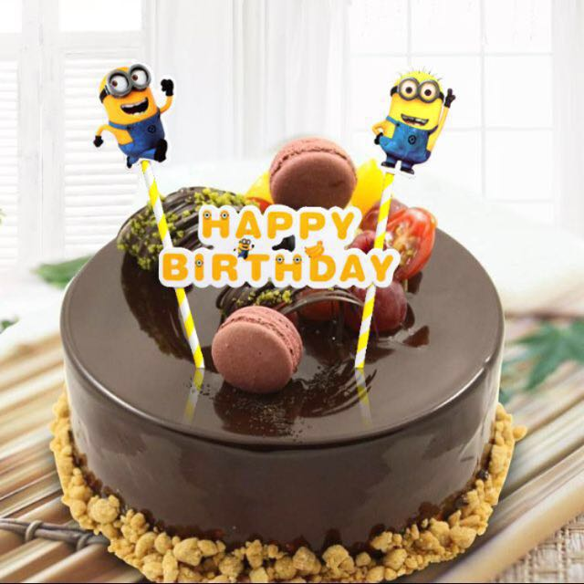 Incredible Minions Happy Birthday Bunting Cake Topper Decoration Cupcake Personalised Birthday Cards Cominlily Jamesorg