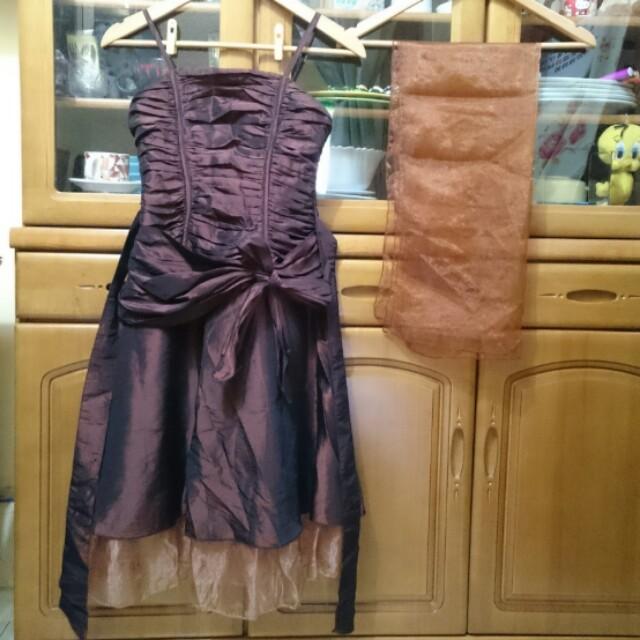 MOODS by Cabrelli dress w/ unused shawl