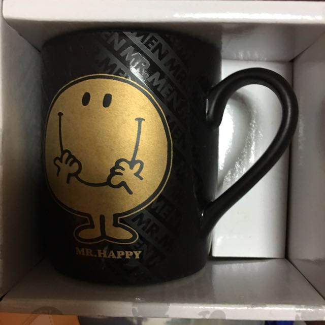 Mr.men little miss 快樂先生 大頭先生 mr.happy 馬克杯