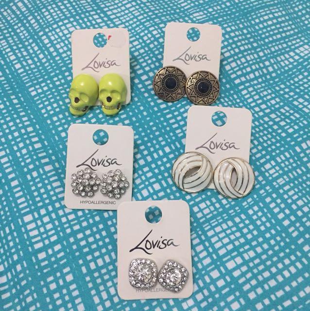 New & used earrings