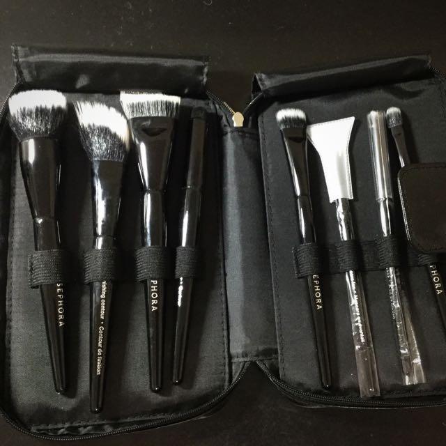 New Sephora make up brush set with case
