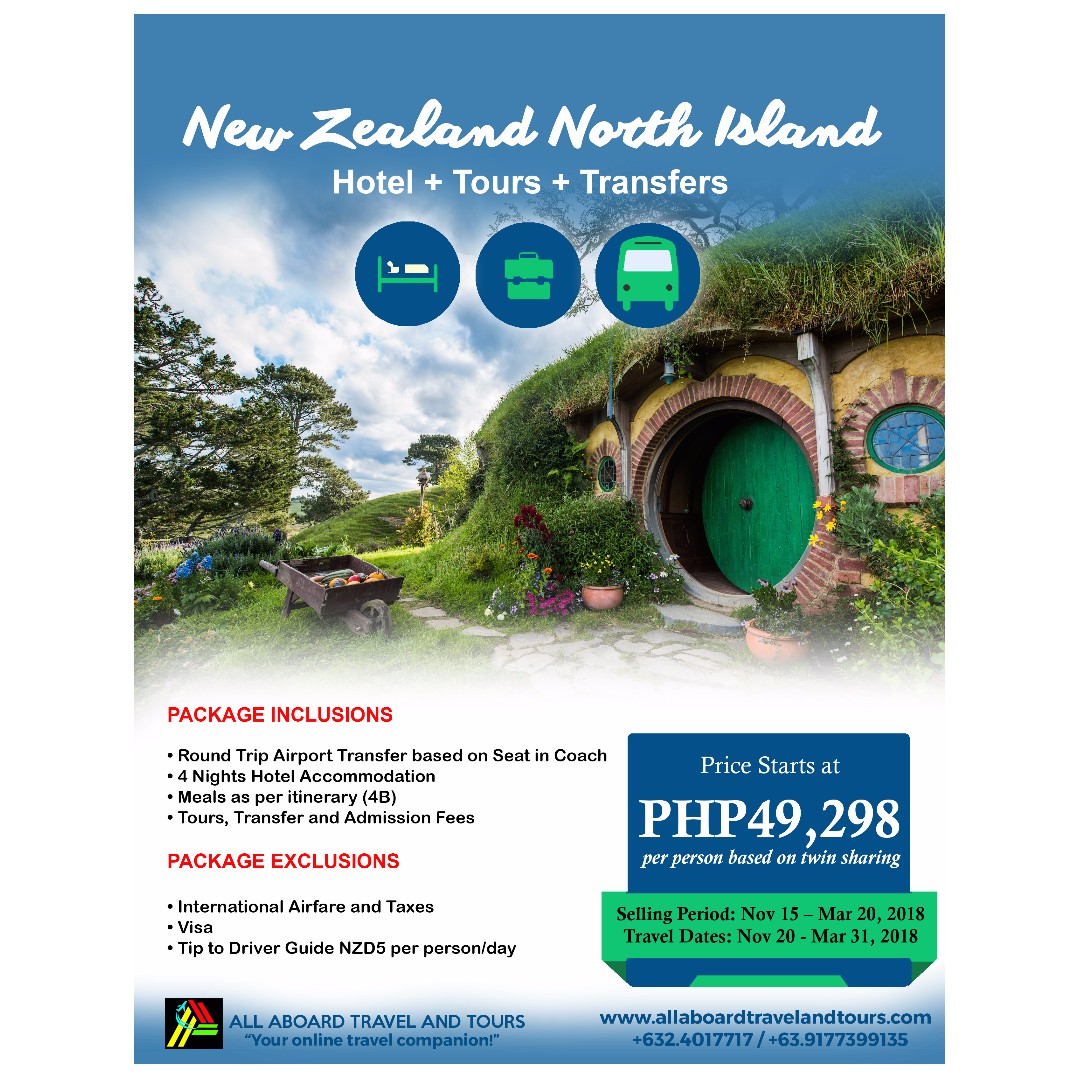 New Zealand North Island 5D4N Tour