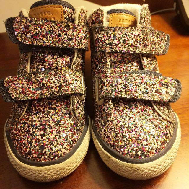 Next閃亮刷毛童鞋(約14cm)