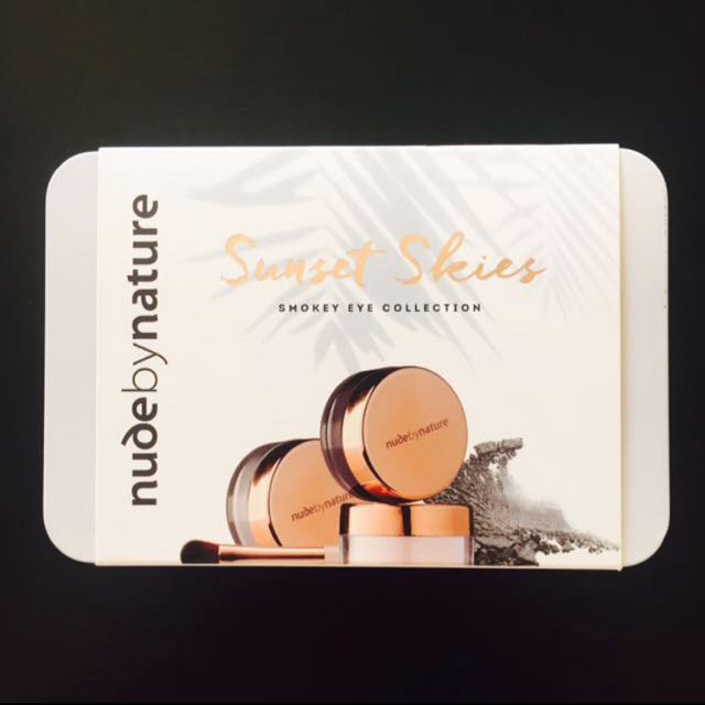 Nude by Nature - Sunset skies smokey eye collection