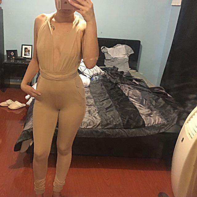 Nude playsuit