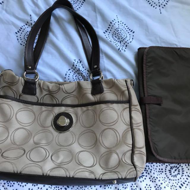 Oroton signature baby bag Large