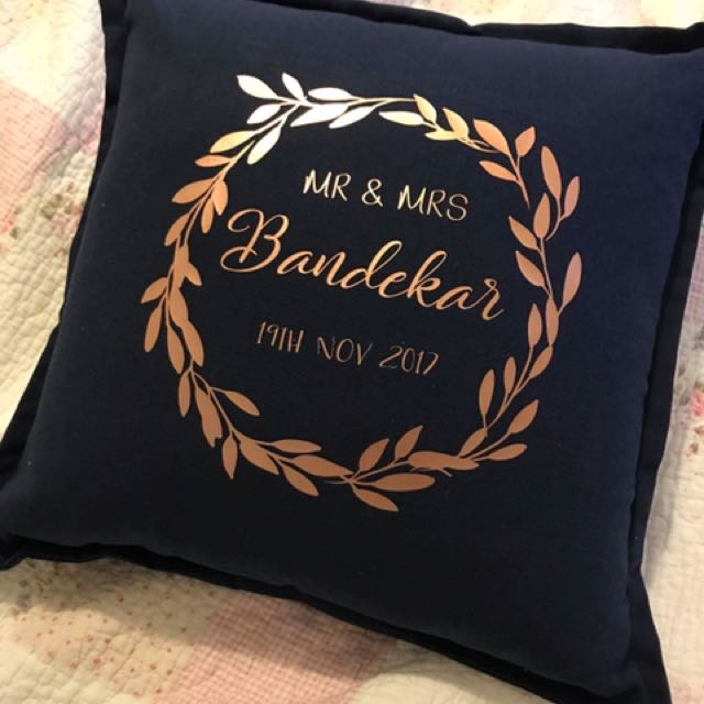 Personalised Cushion/Pillow for bride and groom to be