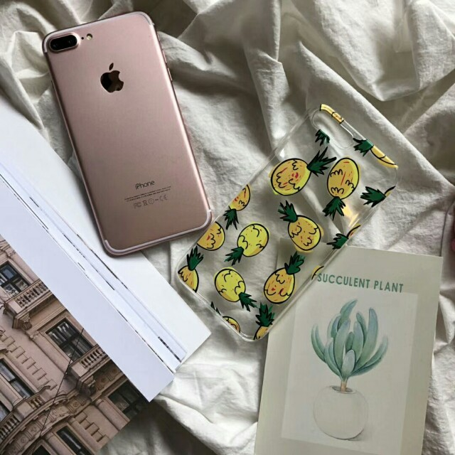 🍍Pineapple Fun Transparent Clear Phone Case For iPhone 6/7/7plus/8/8Plus/X