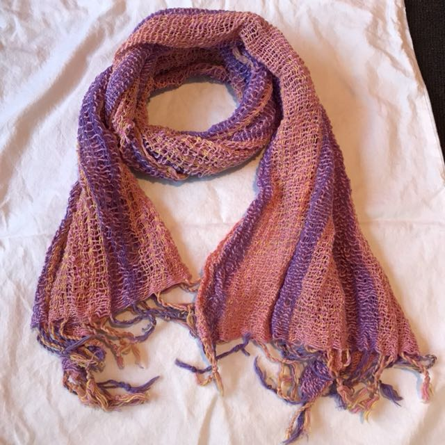 Pink and Purple Scarf
