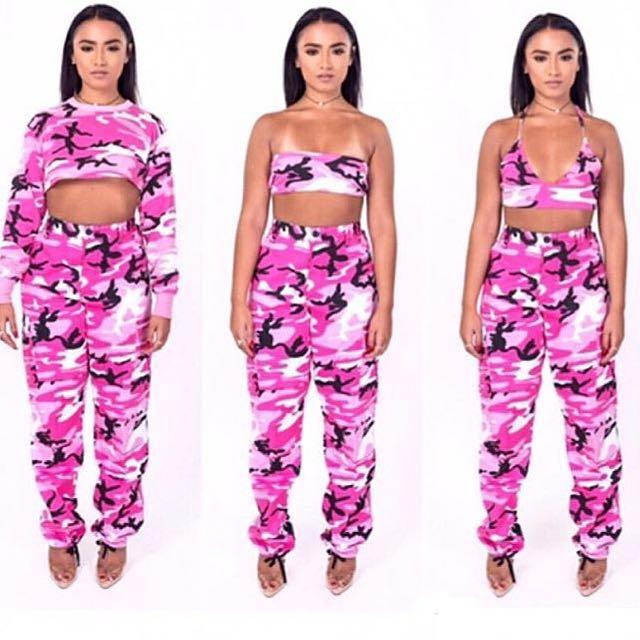 PLUGGED Pink Camo Pants