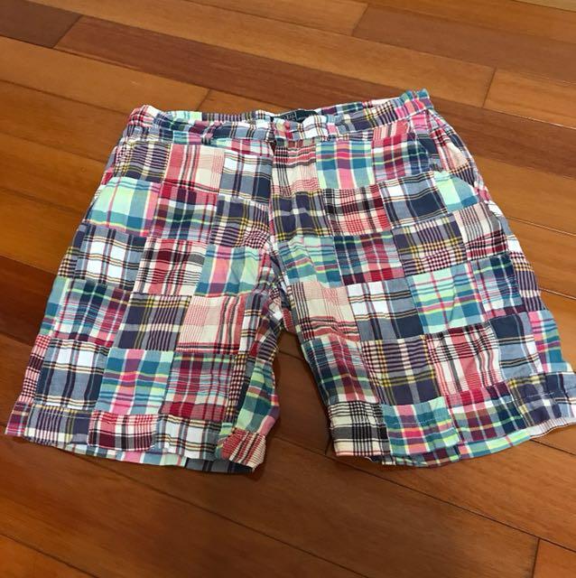 POLO ralph lauren 經典格紋短褲