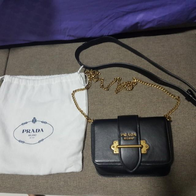 Prada City Calf Cahier Sling Bag b029c18d24766
