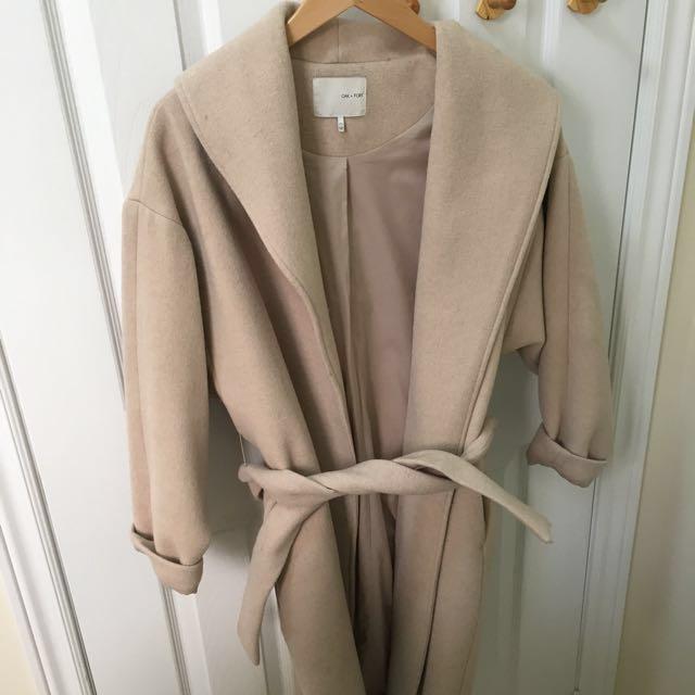 PRICE DROP Oak and Fort Beige Wool Coat