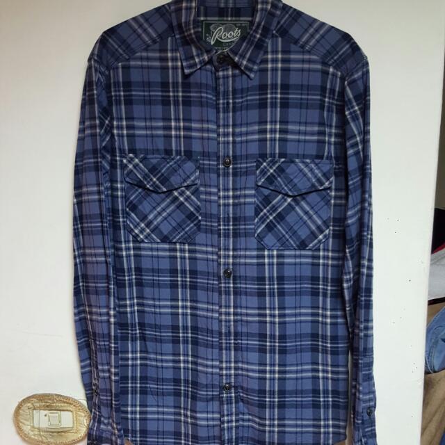 Root,s 格紋長袖襯衫
