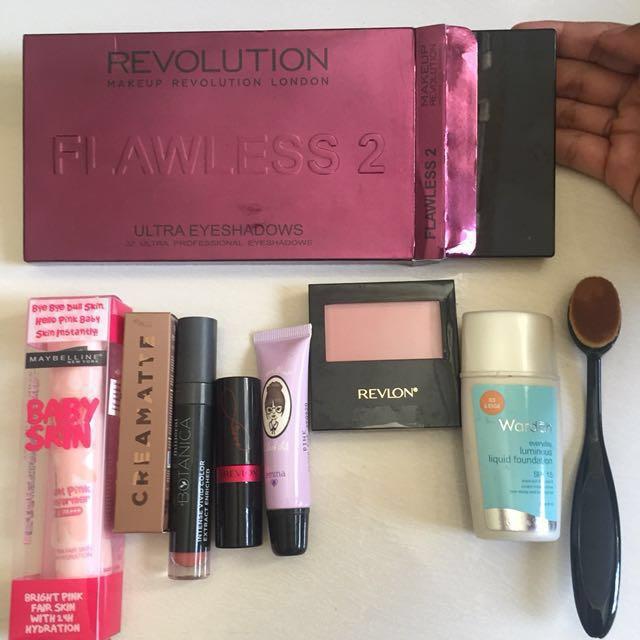 Sale!!! Eyeshadow, lipstik, primer, foundation, blush on
