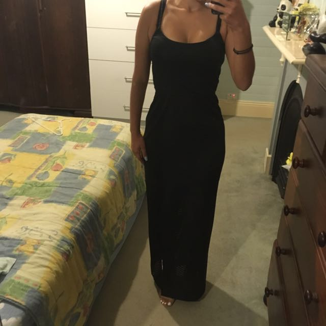 Size 6 black maxi dress from Forecast