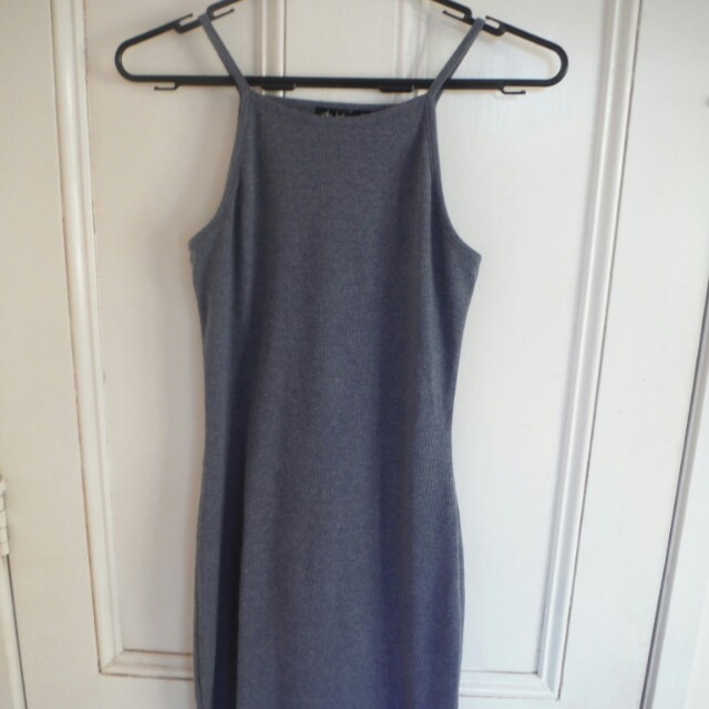 Size 8 Grey/Blue dress