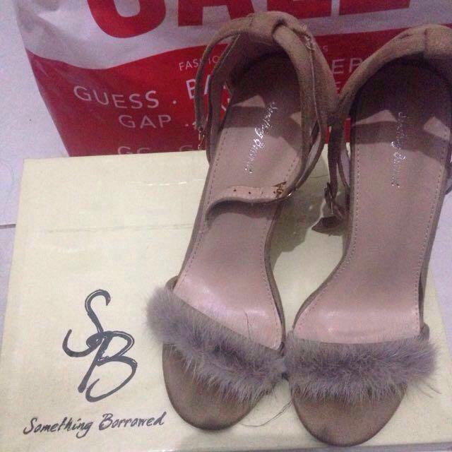 Something Borrowed Faux Fur Heels