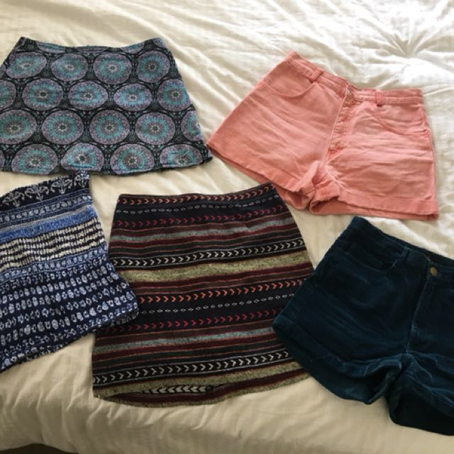 Summer skirts and vintage shorts bundle - princess Polly, market hq, missguided