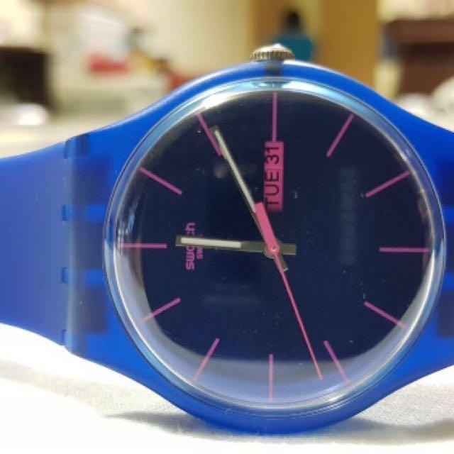 SWATCH BASIC blue Watch