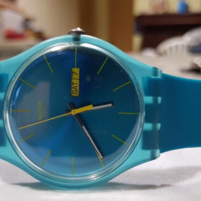 SWATCH BASIC Turquoise Watch