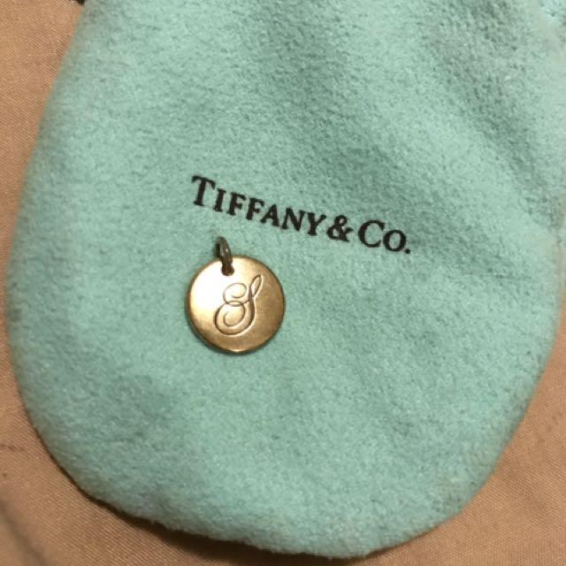Tiffany & Co gold 's' pendant