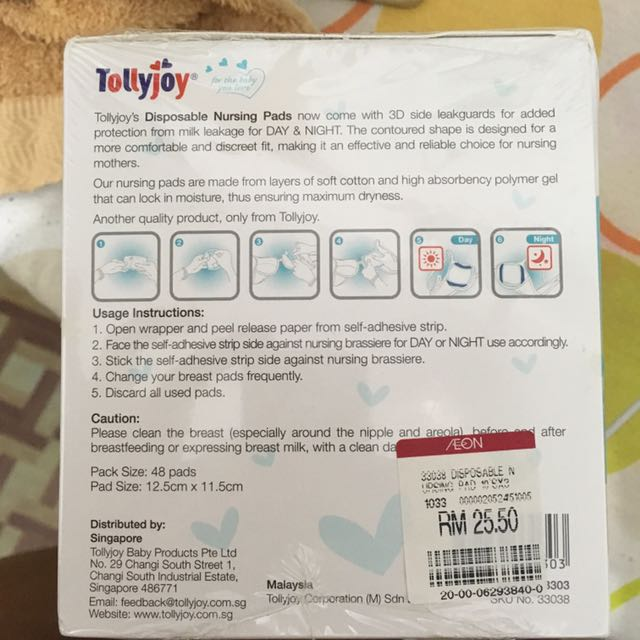 Tollyjoy Disposable Breast Pad, Babies .