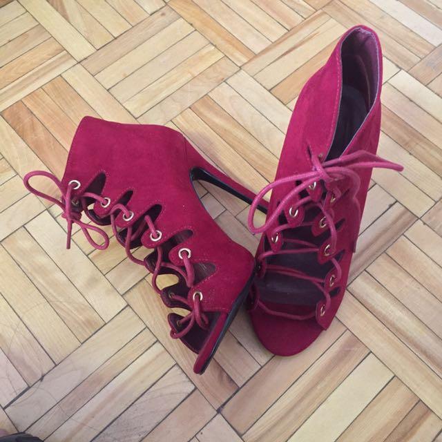 Topshop Lace Up Heels