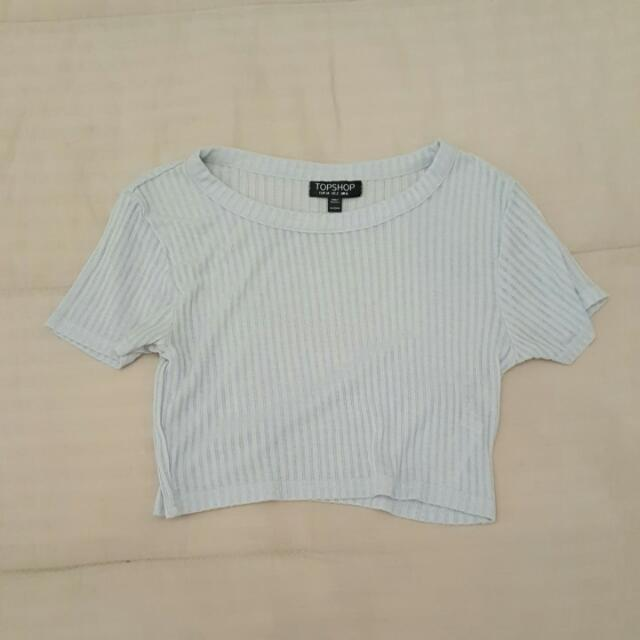 Topshop Ribbed Cropped Tee