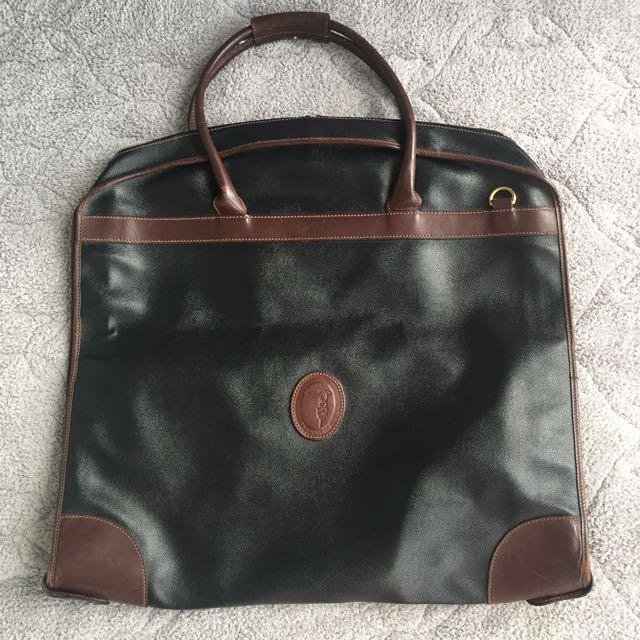 TRUSSARDI Leather Suit Bag