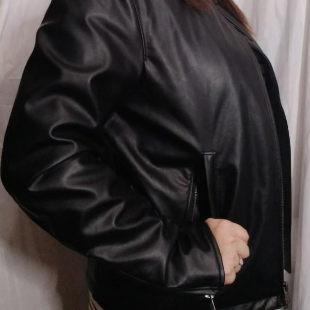 Uniqlo Faux leather jacket Medium