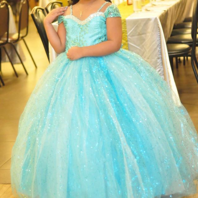 Used once Party Gown with Petticoat (worn for 2hrs only)