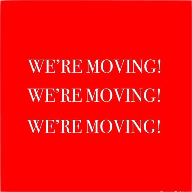 WE'RE MOVING! MOVING GARAGE SALE!