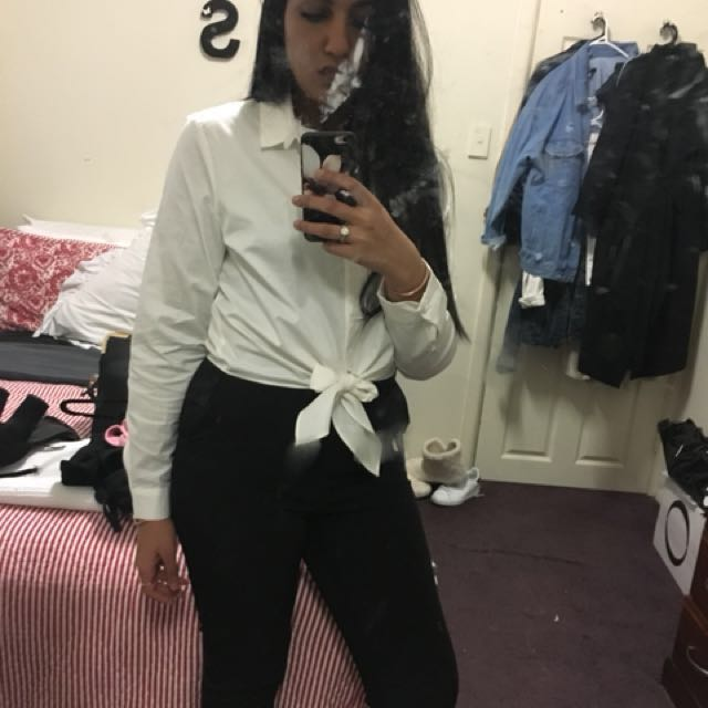 White Crop Shirt