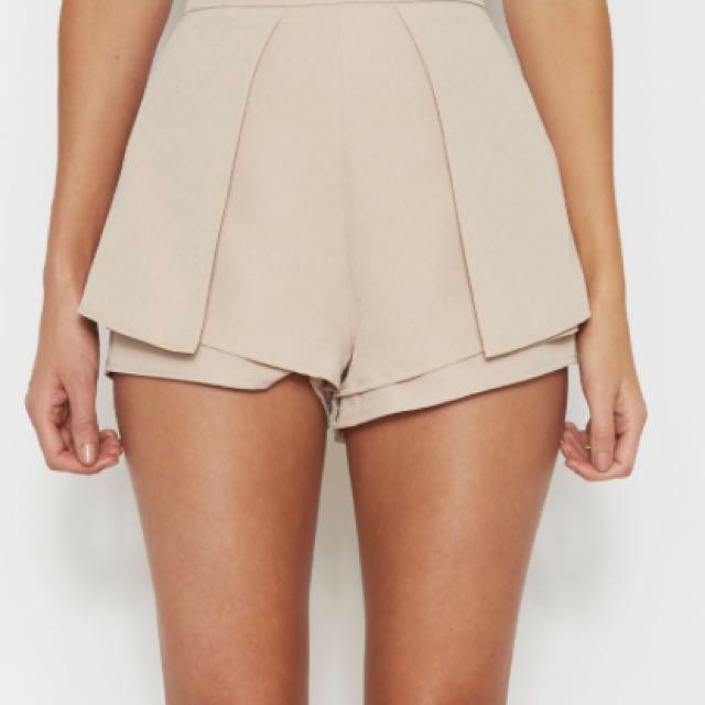 White Fox Boutique Lola Shorts - Beige