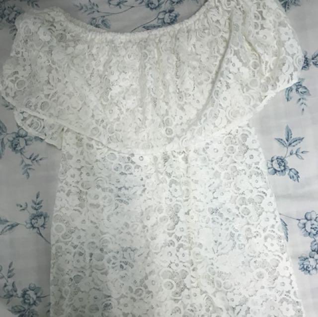 White Lace Off Shoulder