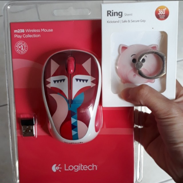Wireless mouse logitech m238 dan i ring