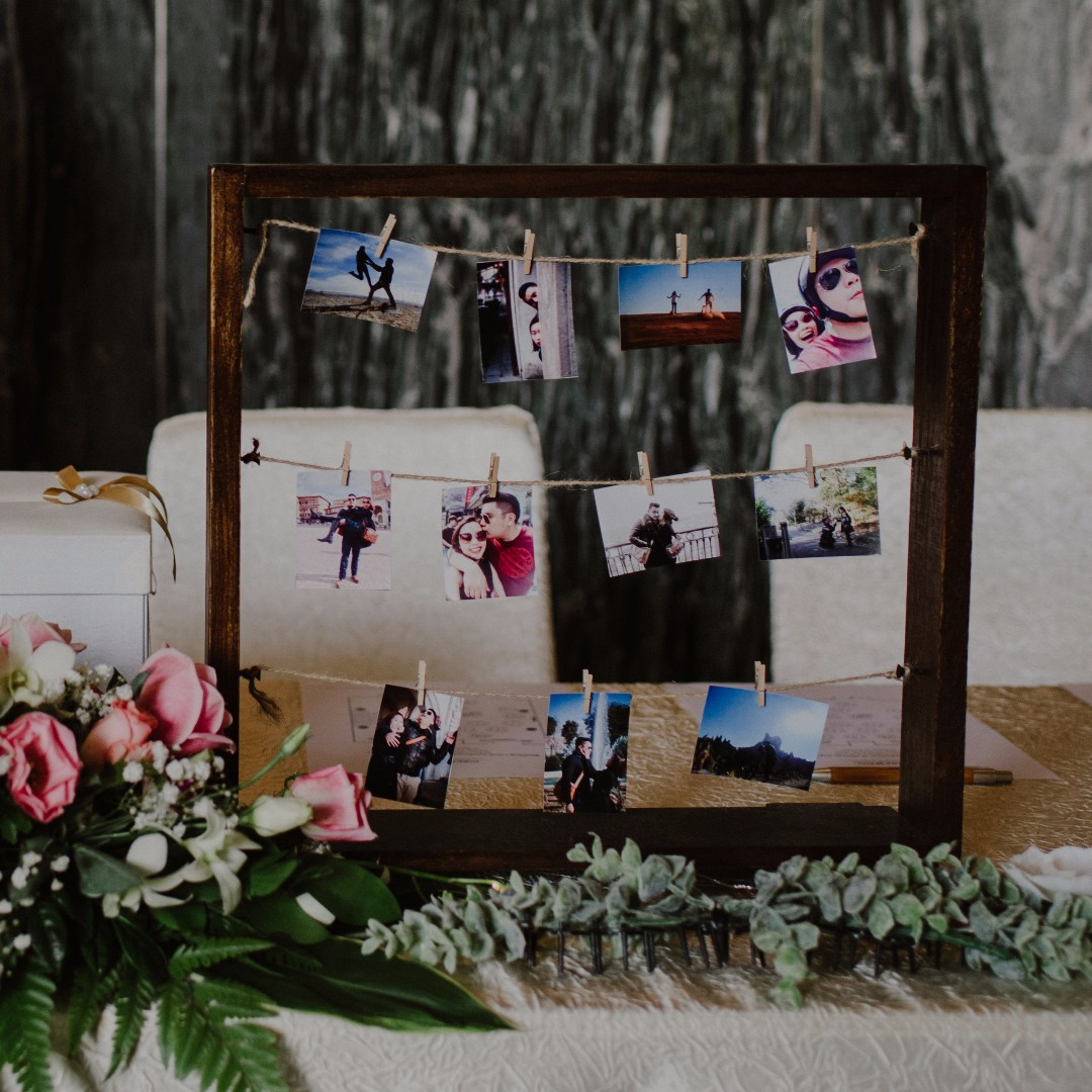 Wooden frame for polaroid photos (wedding decor & props), Design ...
