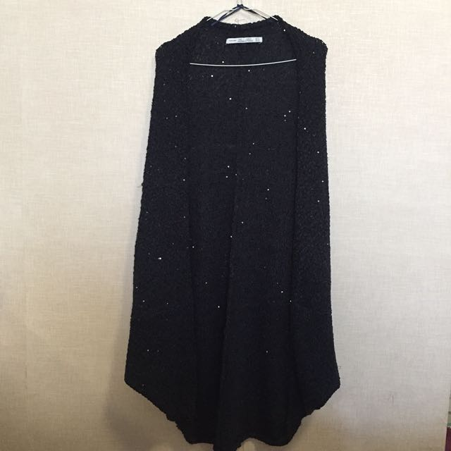 ZARA Glam Sequin Knit Poncho