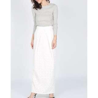 BNIB Love Bonito Celestia Crochet Maxi Skirt