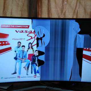 samsung 49 inch curved 4k uhd tv with cracked screen
