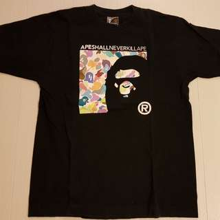 A Bathing Ape Multicolor T-Shirt Tee Bape