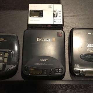 """Collectible Retro Gadgets : Spoiled """"CD Players & MD Walkman"""""""