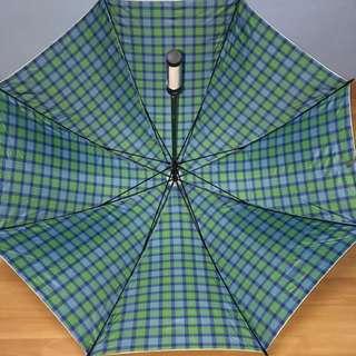 New Maybank Umbrella with Silver UV Protector Coating, Tartan design