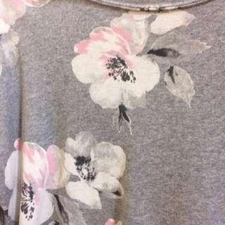 韓貨 花卉圖騰T-shirt